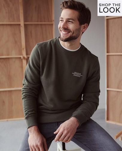 Groene sweater League Danois